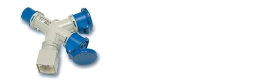 Адаптор 3 изходи СЕРИЯ 12 IEC 309